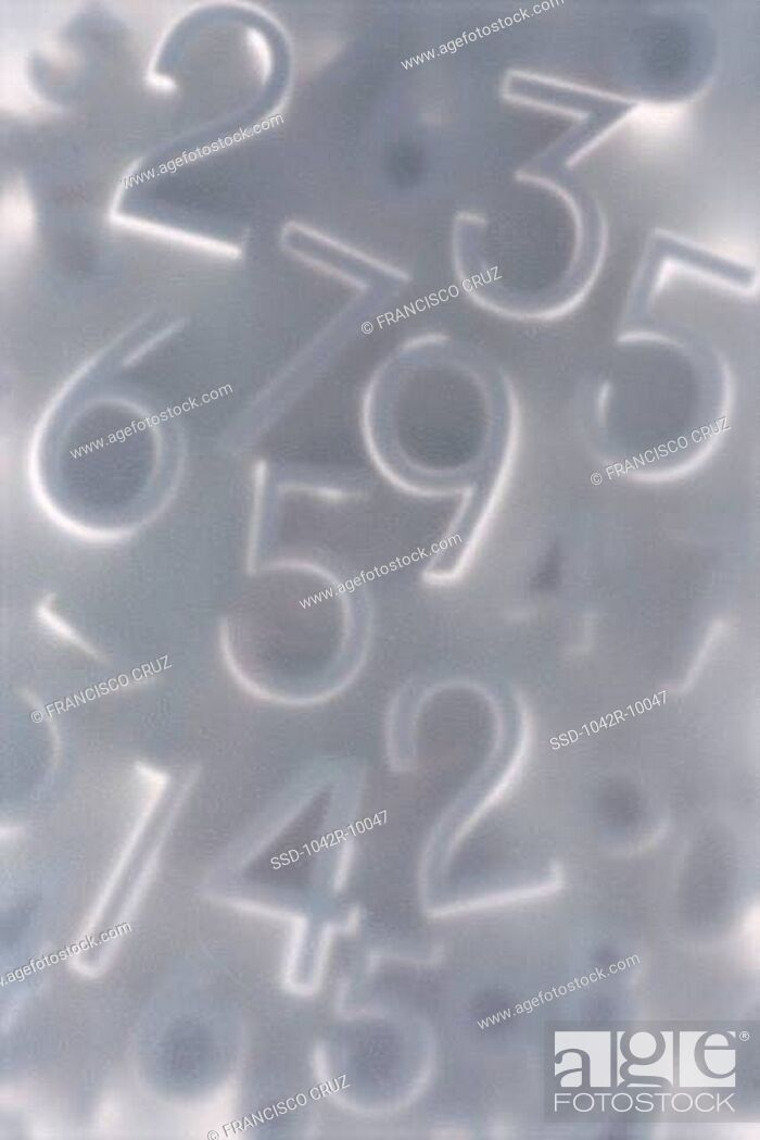 Stock Photo: Close-up of numbers.