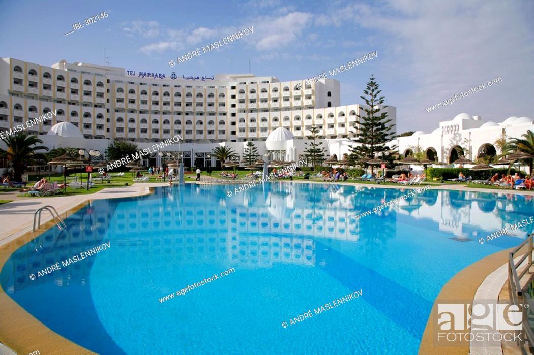 Stock Photo: Tej Marhaba hotel in Sousse, Tunisia.