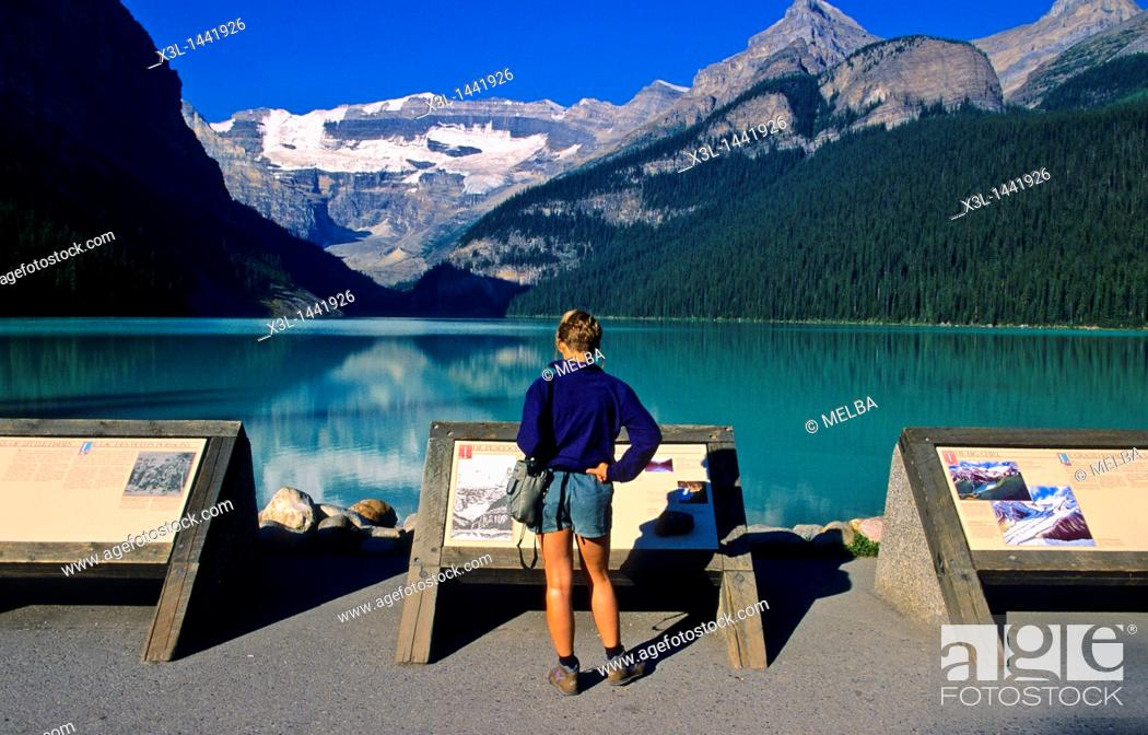 Stock Photo: Louise Lake  Banff National Park  Alberta  Canada.