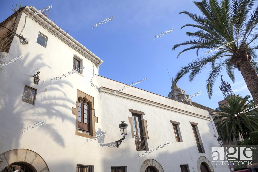 Stock Photo: Casa Rectoral Building in Sitges Historic Quarter, Spain.