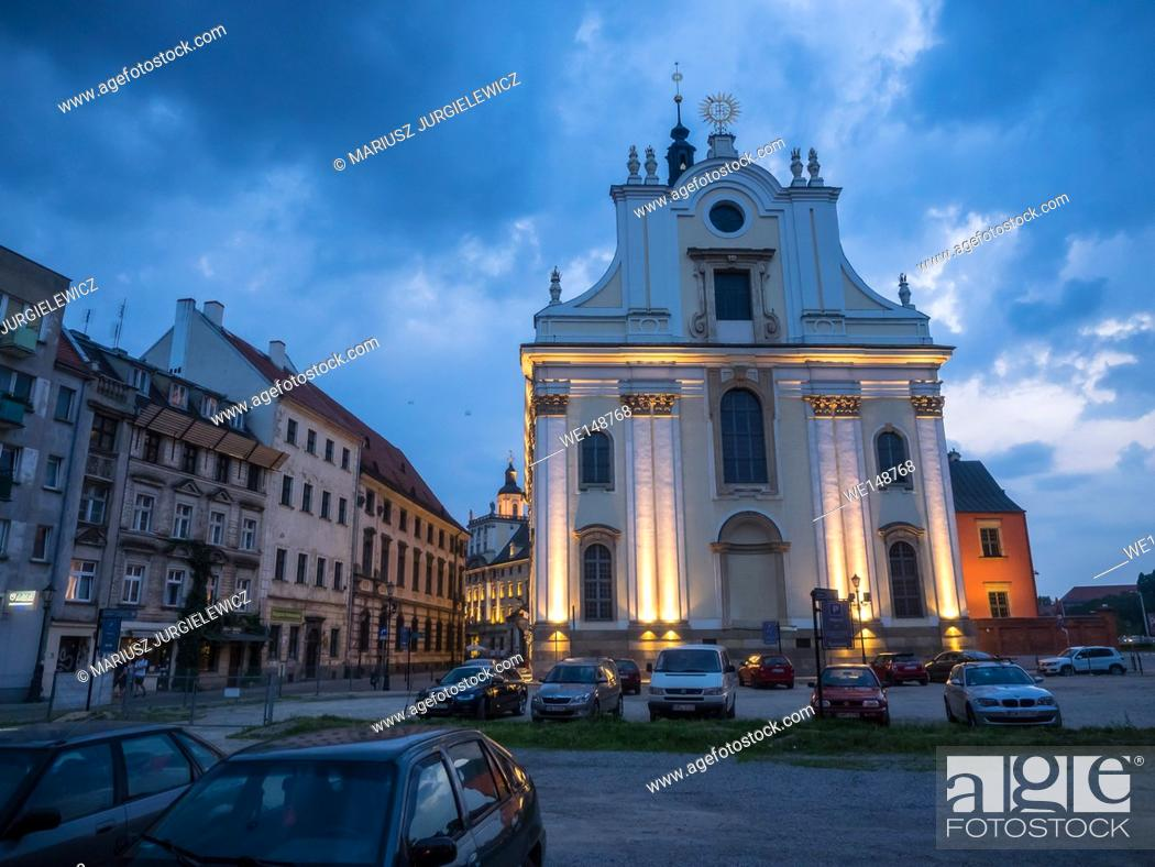 Stock Photo: University Church of the Blessed Name of Jesus is baroque church, built by the Jesuits in the years 1689-1698.