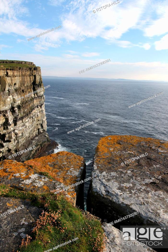Stock Photo: Noup Head, West coast, Westray, Orkney Islands, Scotland, United Kingdom / Noup Head, Westküste, Westray, Orkney Inseln, Schottland, Großbritannien.
