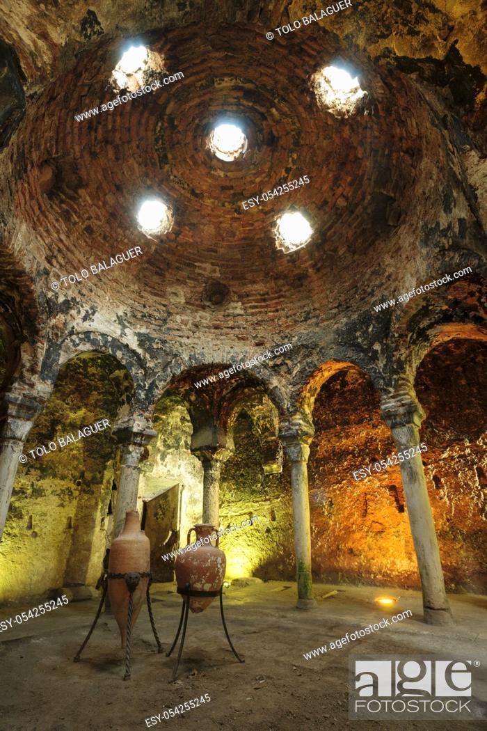 Stock Photo: baños árabes, - Banys Ã. rabs - , siglo X, Palma, Mallorca, islas baleares, españa, europa.