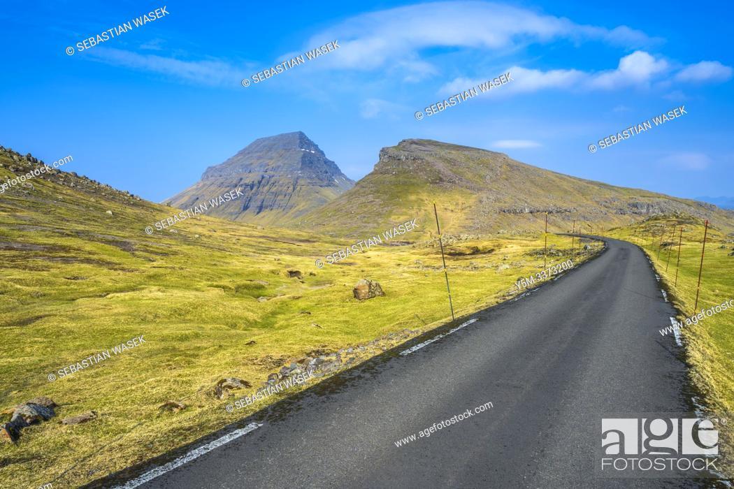 Stock Photo: Mjørkadalur, Streymoy Island, Faroe Islands, Denmark, Europe.