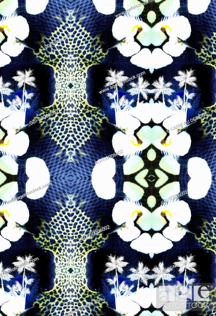 Imagen: Repeating mirrored design.