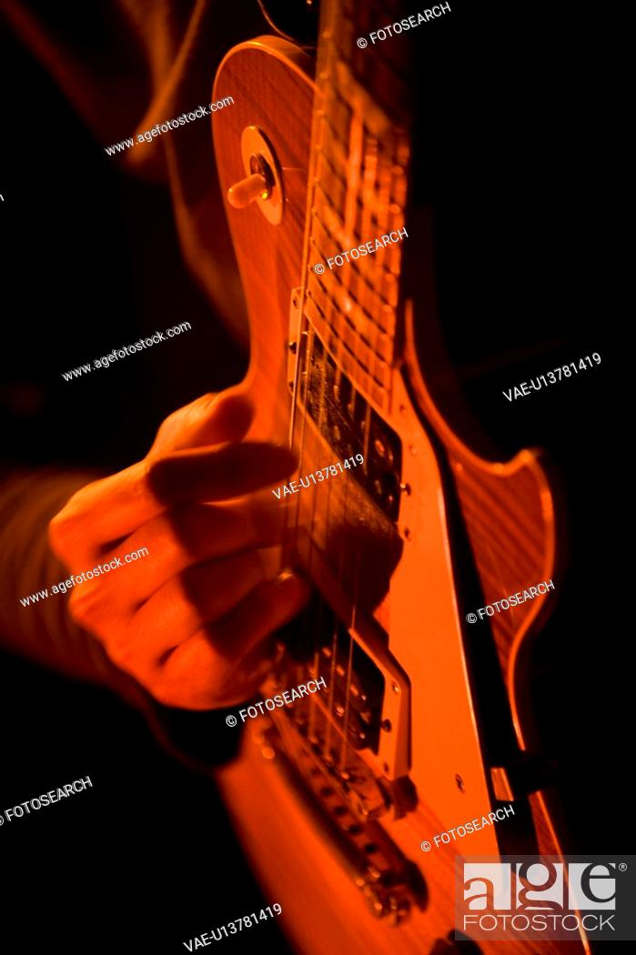 Stock Photo: Electronic guitar.