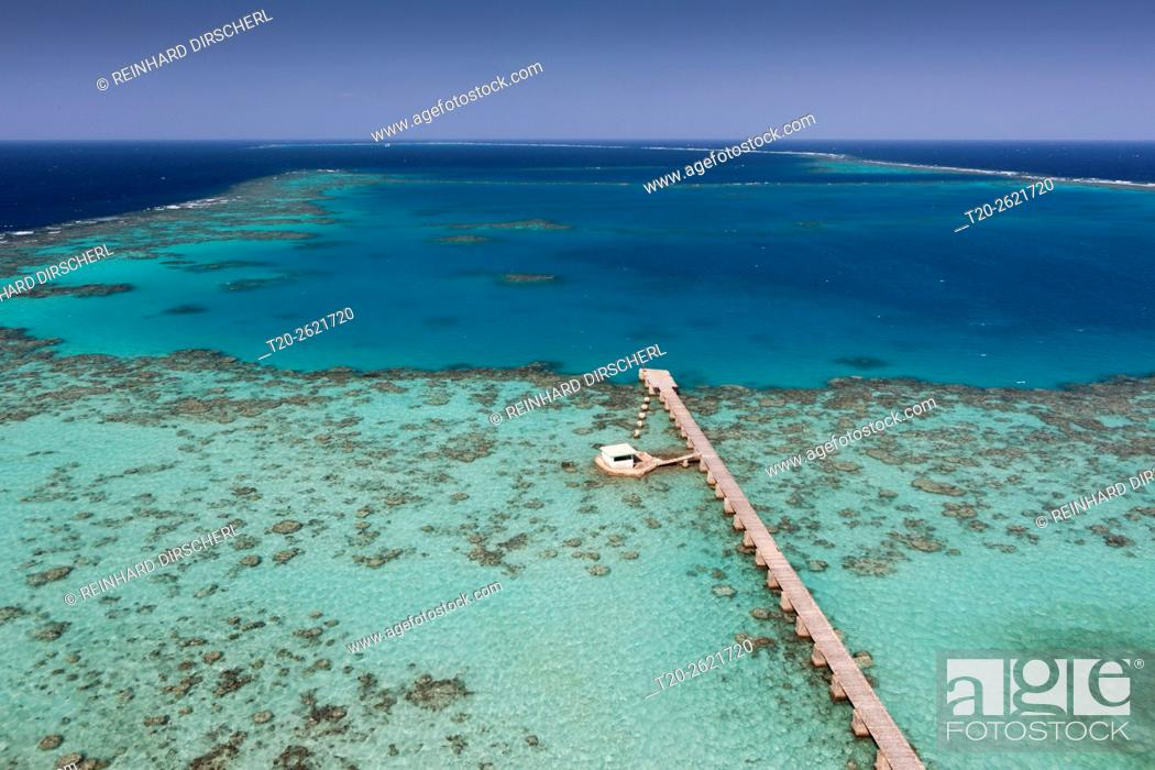 Stock Photo: View from Sanganeb Lighthouse, Red Sea, Sudan.