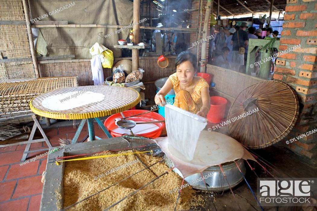 Stock Photo: Rice processing in Can Tho, Vietnam.