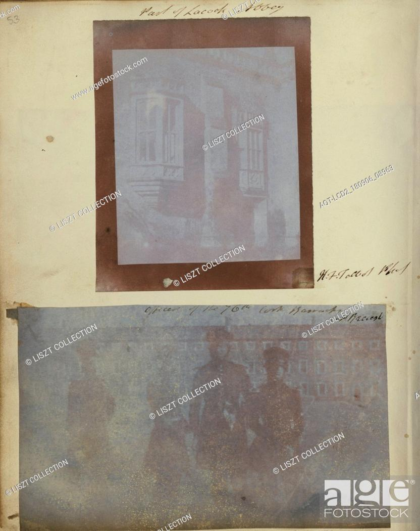 Stock Photo: Officers of the 76th Regiments of Foot at Cork Barracks; Capt. Henry Craigie Brewster (British, 1816 - 1905, active 1840s); 1842–1843; Salted paper print from a.