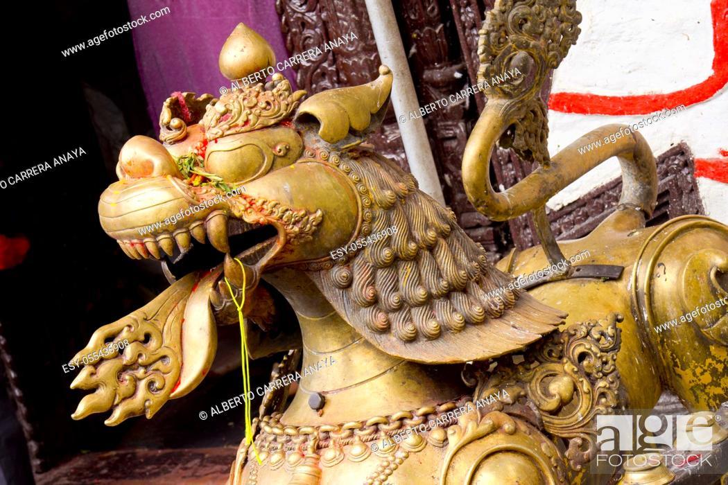 Imagen: Tal Barahi Temple, Goddess Durga, Phewa Lake, Fewa Lake, Pokhara, Nepal, Asia.