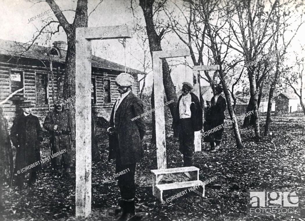 Execution By Hanging Of Three Supposed Russian Spies By Austro