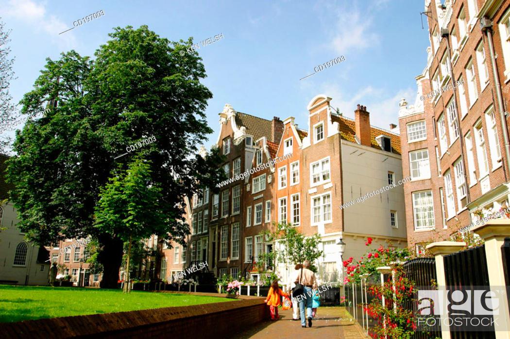 Stock Photo: The Begijnhof. Amsterdam. Holland.
