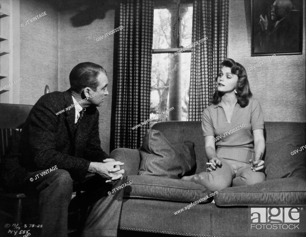 James Stewart and Lee Remick, on-set of the Film, Anatomy of a ...