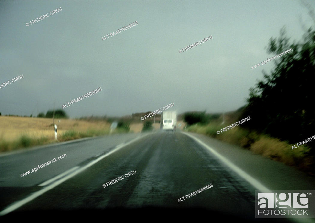 Stock Photo: Road through rural area.