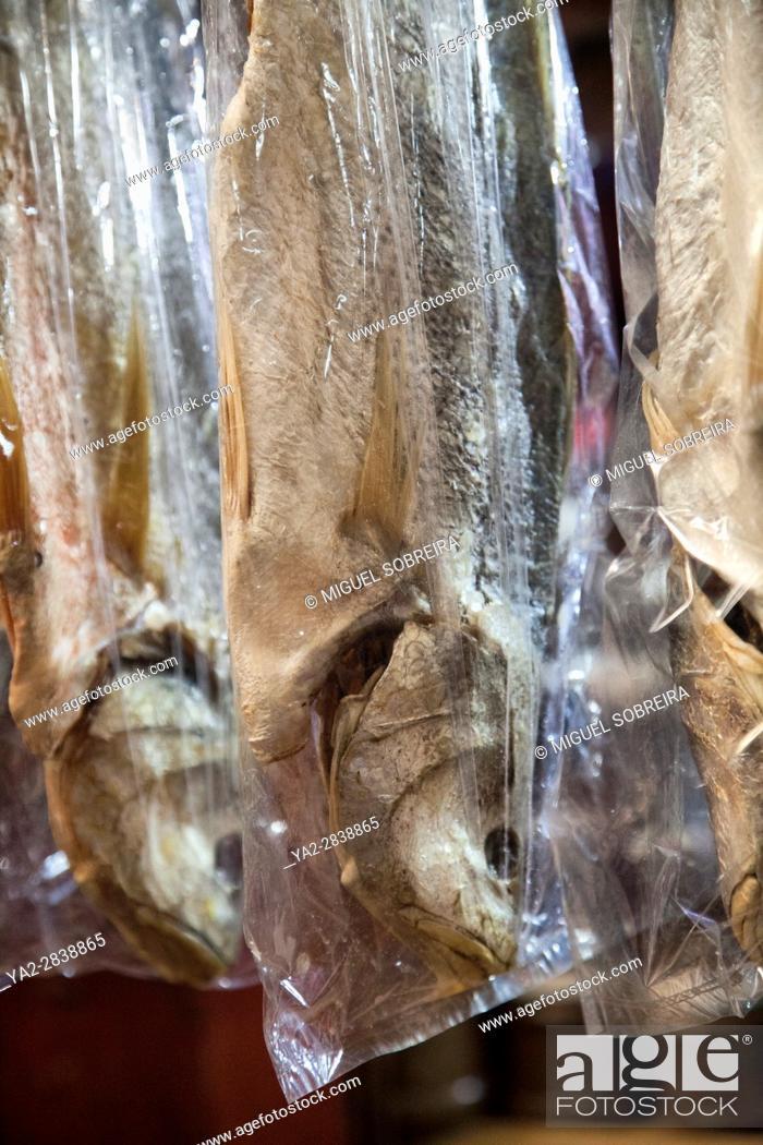 Stock Photo: Dried Fish at Psa Leu Market in Siem Reap - Cambodia.