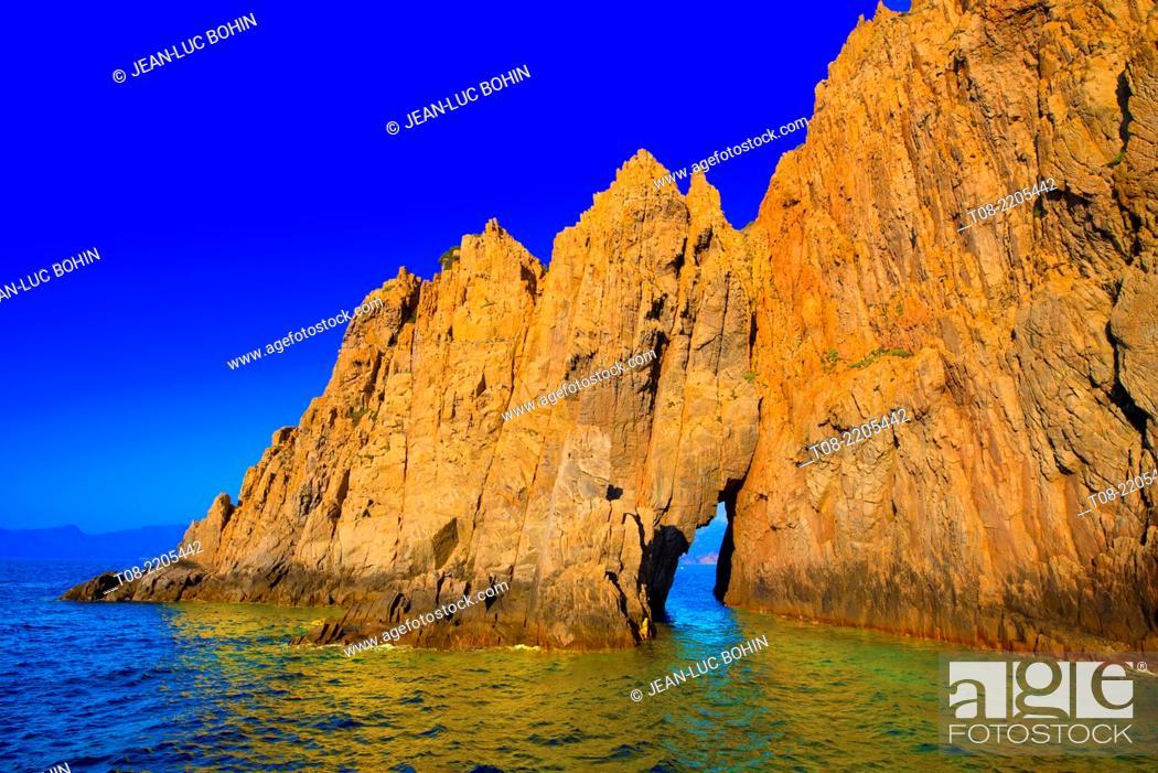 Imagen: france, corsica, porto's gulf : piana's calanches.