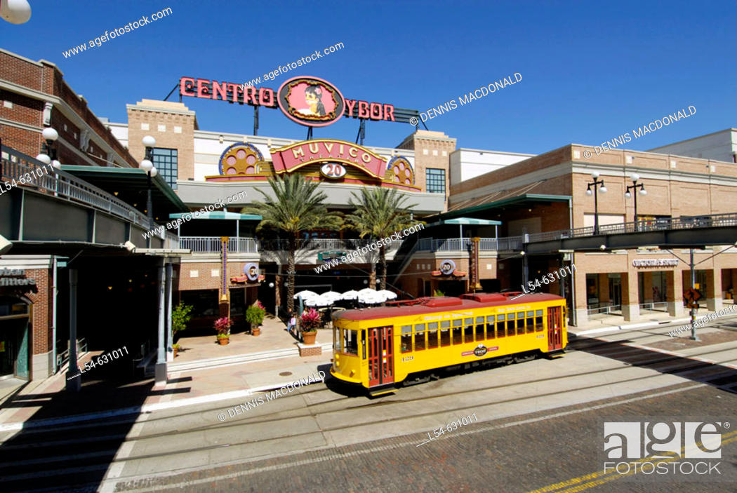 Stock Photo: Ybor City is a popular tourist Cuban American part of Tampa, Florida. USA.
