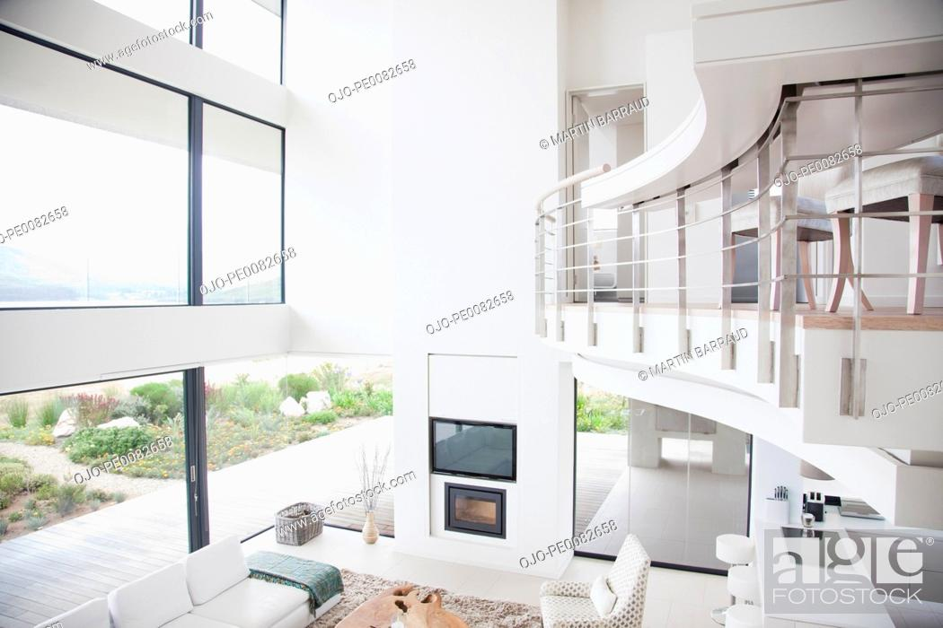 Stock Photo: View of modern living room.
