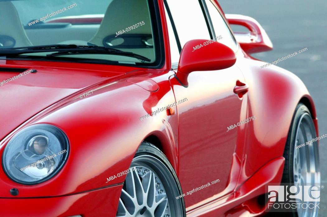 Porsche Gemballa Red Side View Detail Series Vehicle Car