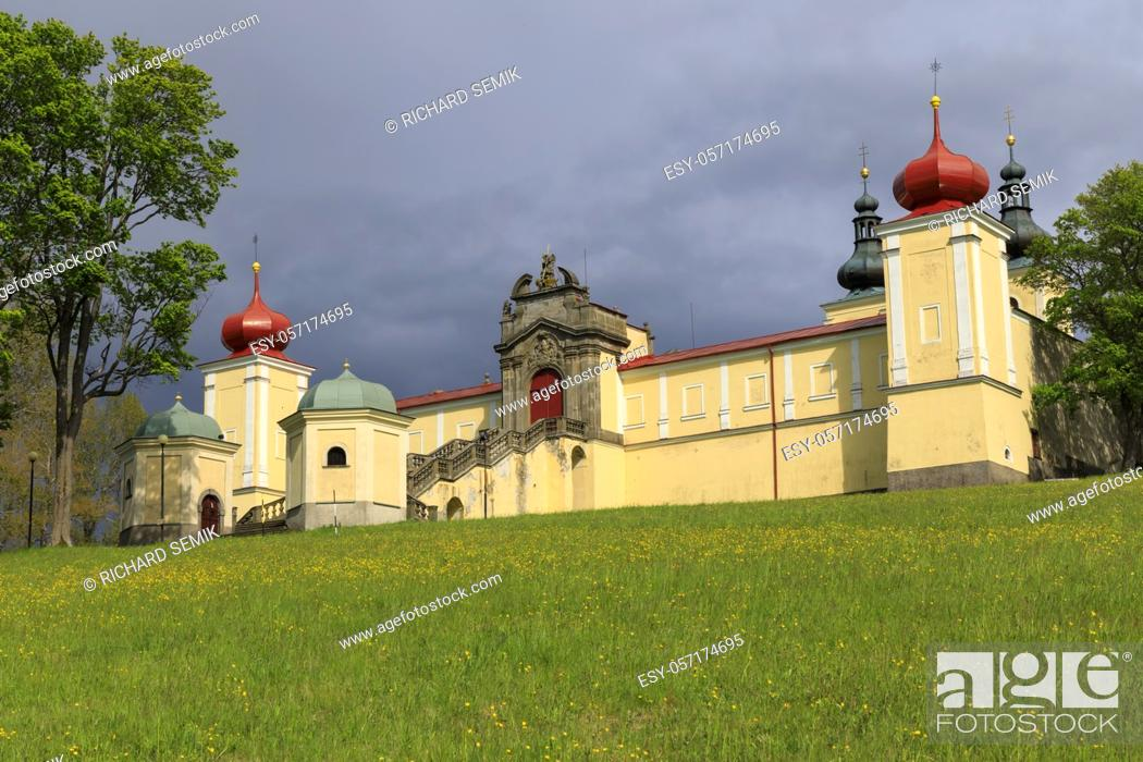 Stock Photo: Monastery of the Mother of God Hedec, Eastern Bohemia, Czech Republic.