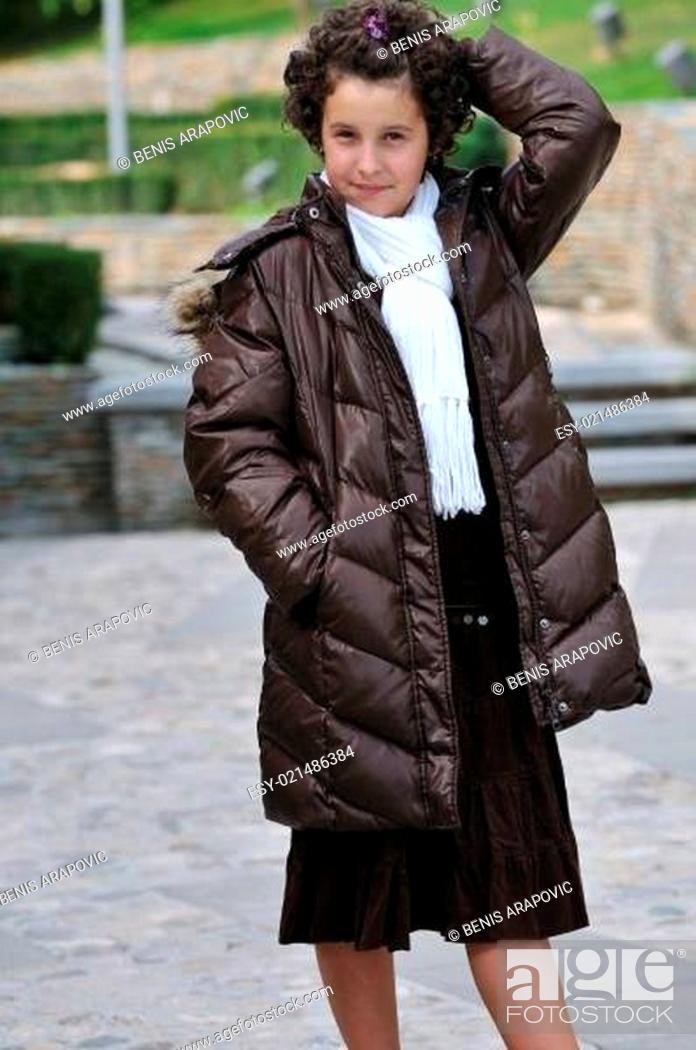 Stock Photo: child fashion outdoor.