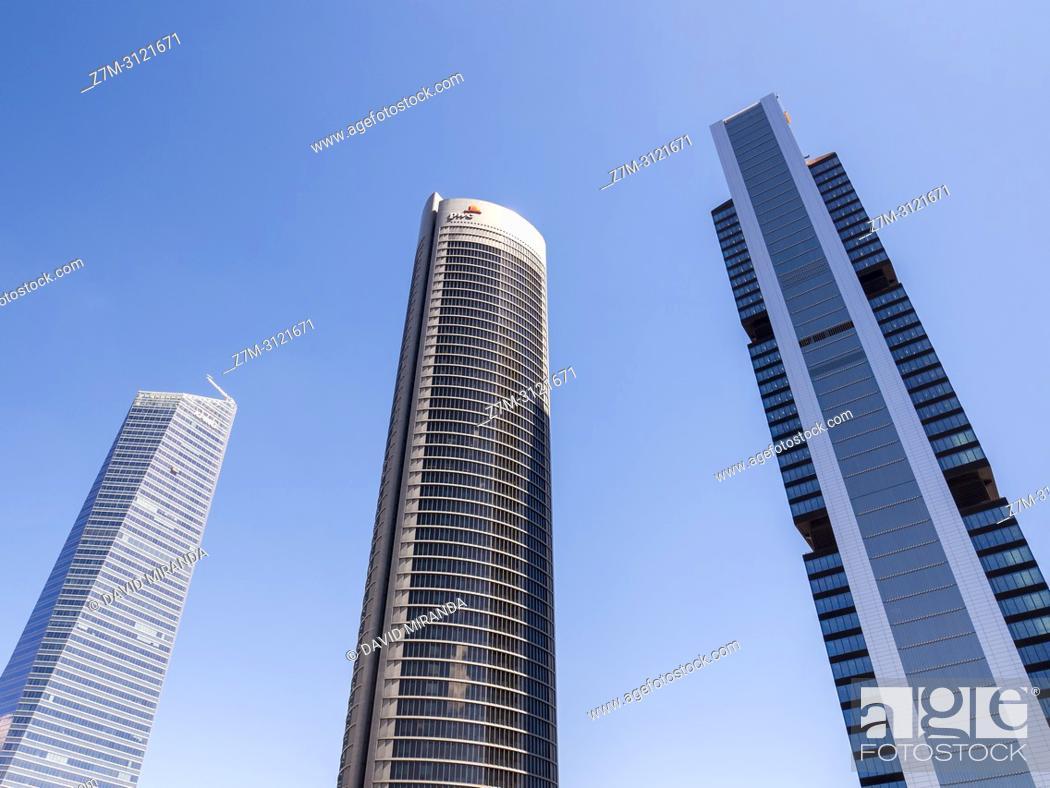 Stock Photo: Cuatro Torres Business Area (CTBA). Madrid, Spain.