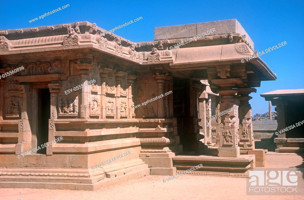 Imagen: Temple in Hampi, India, Asia.