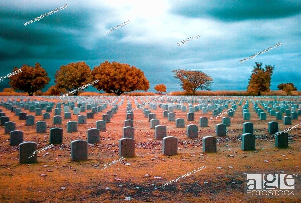Stock Photo: The Clark Air Base Cemetery in Angeles City, Pampamga, Philippines.