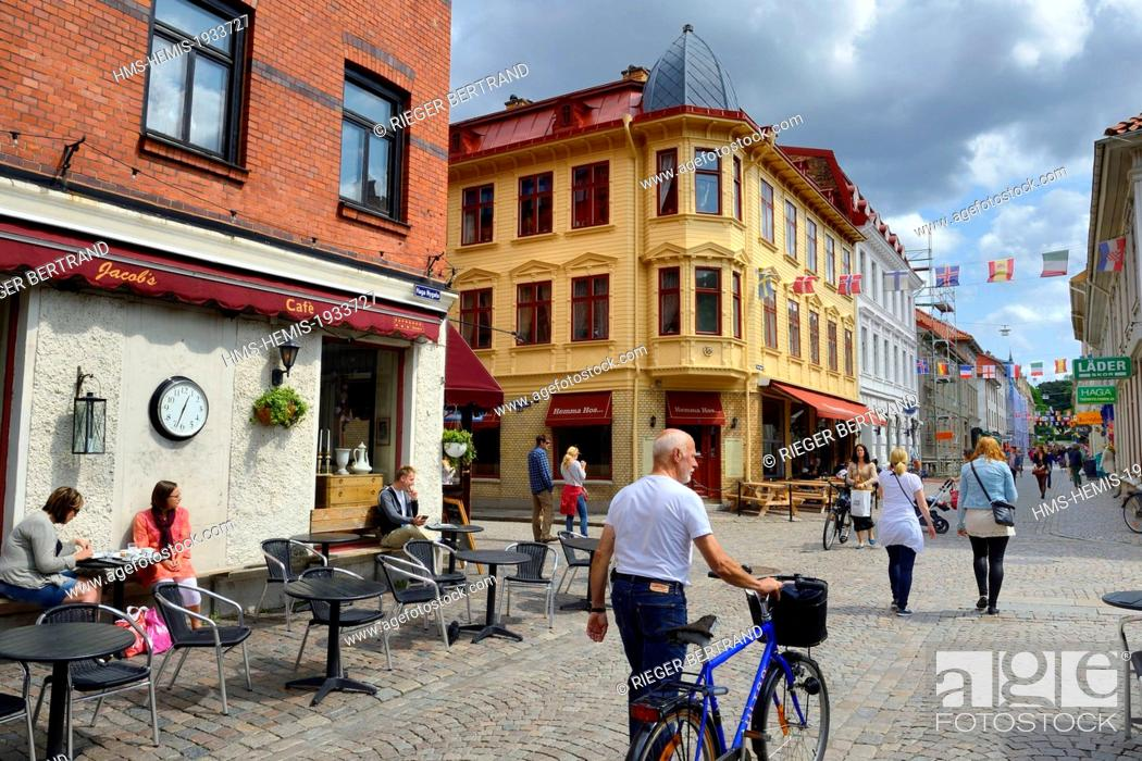 Sweden Vastra Gotaland Goteborg Gothenburg Haga District Cafe Terrace In Haga Nygata Street Stock Photo Picture And Rights Managed Image Pic Hms Hemis 1933727 Agefotostock