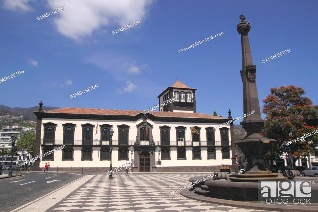Stock Photo: Praca do Municipio Funchal Madeira.