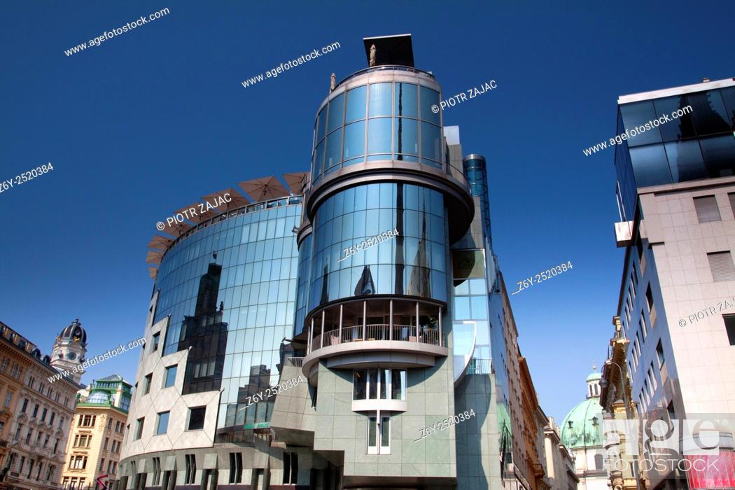 Stock Photo: Haas House at the Stock-im-Eisen-Platz in Vienna, Austria.