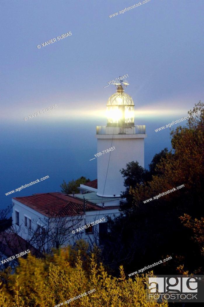 Stock Photo: Sant Sebastià lighthouse, Calella de Palafrugell. Costa Brava, Girona province, Catalonia, Spain.