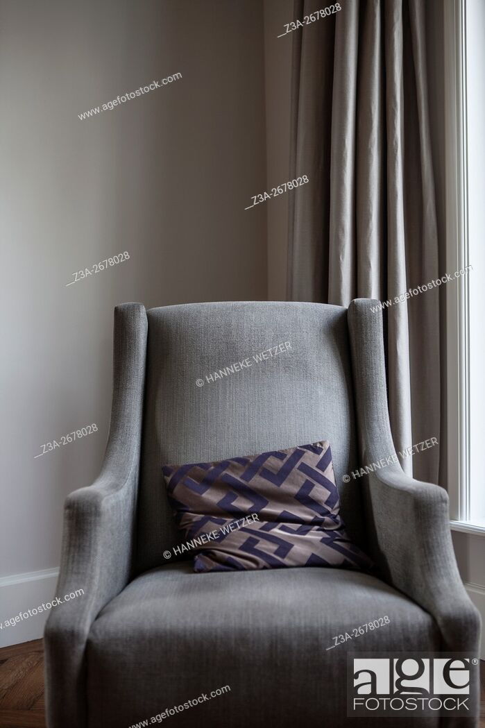 Stock Photo: Chair with pillow.