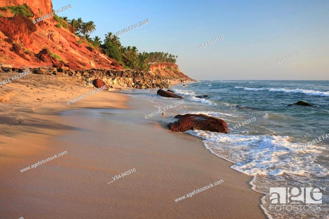Stock Photo: Varkala Beach, Kerala, India.