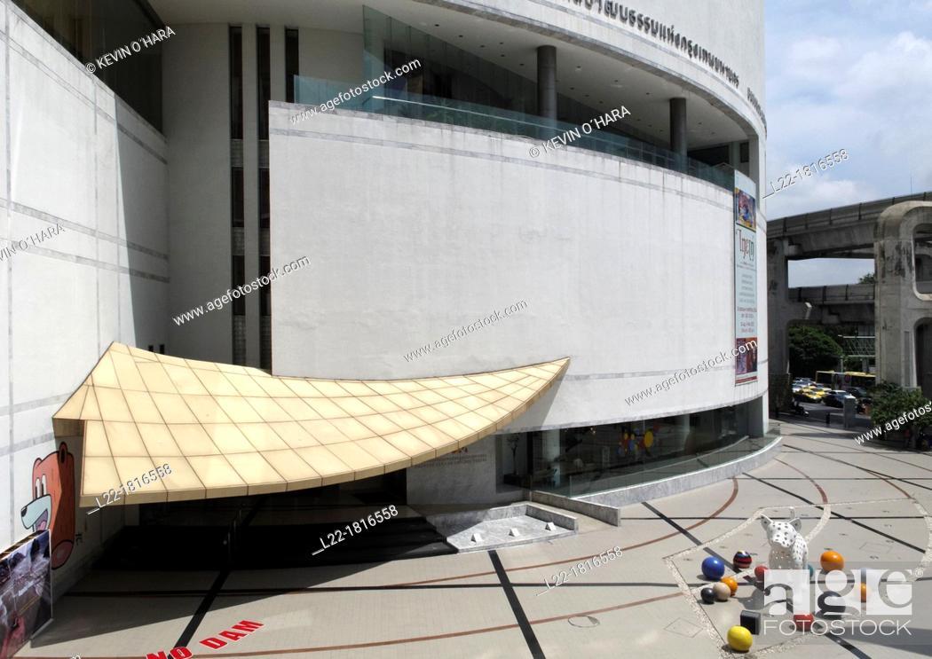 Stock Photo: Bangkok Art and Culture Centre is a contemporary arts museum Bangkok Thailand.