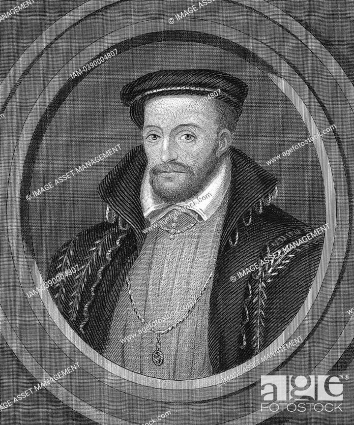 Stock Photo: Gaspard de Coligny or Coligni 1517-72 French Huguenot Admiral  Killed in his room in presence of Duc de Guise in Massacre of St Bartholemew.