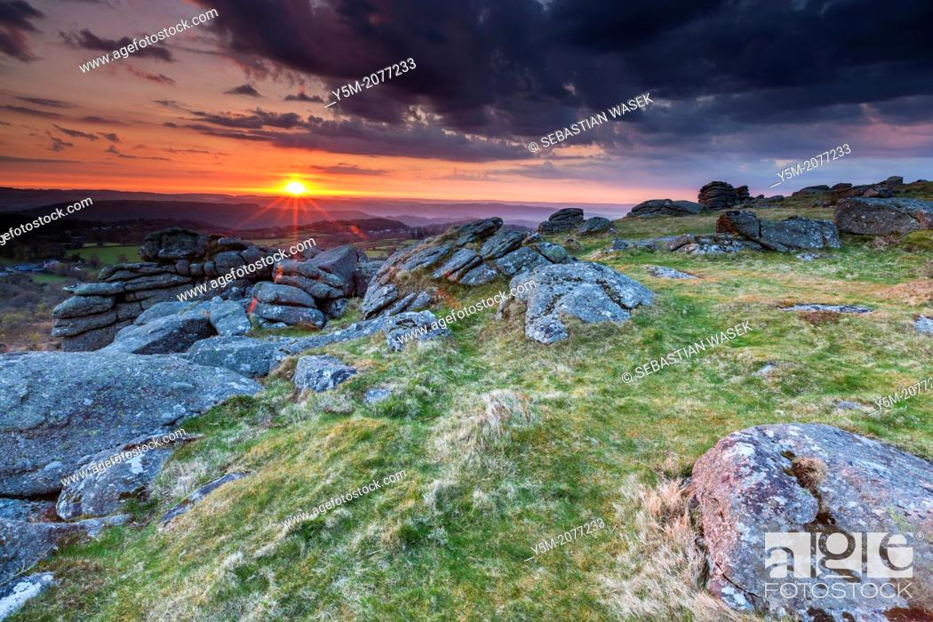 Stock Photo: Hayne Down, Dartmoor National Park, Manaton, West Devon, England, UK, Europe.