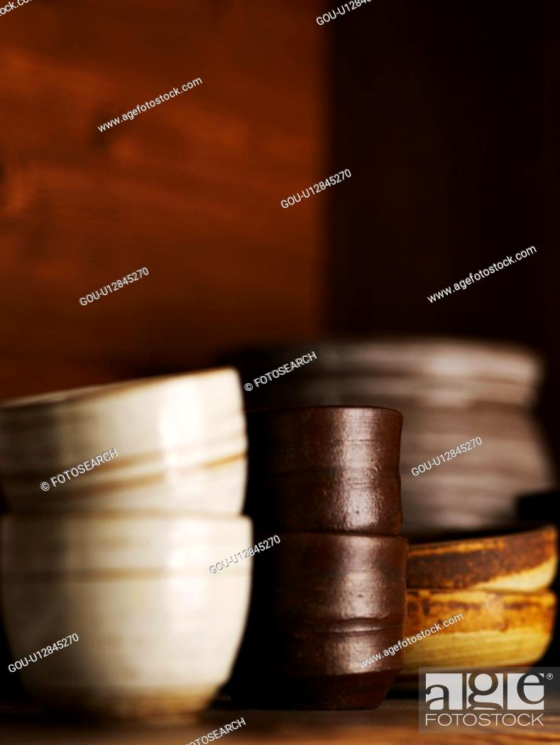 Stock Photo: house item, ceramic cup, tea, beverage, drink, tea-things.