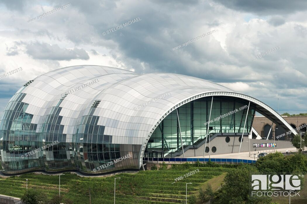 Stock Photo: The Sage in Gateshead,Newcastle,England.