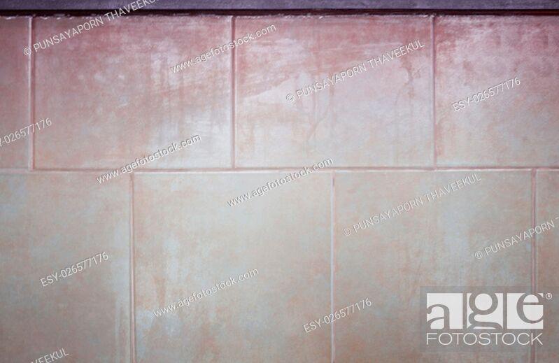 Stock Photo: Ceramic tiles wall texture background, stock photo.