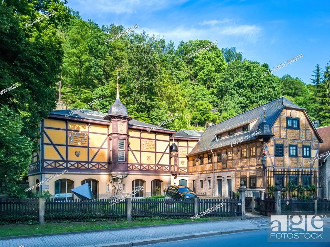 Stock Photo: The Leonhardi Museum, historically a watermill, in Loschwitz, Dresden, Saxony, Germany.