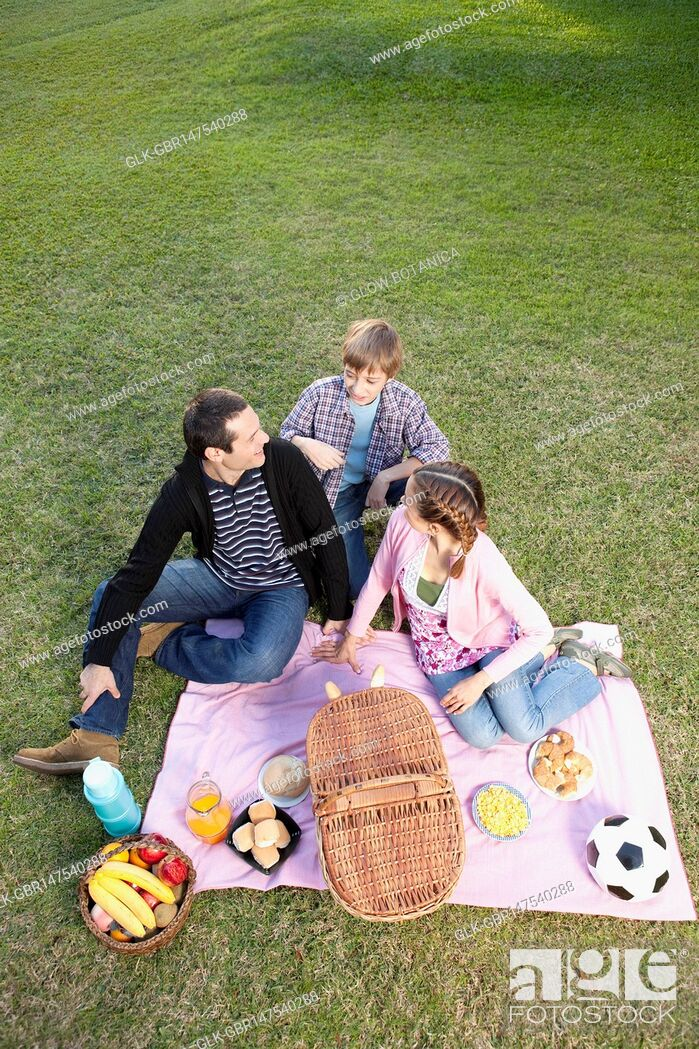 Imagen: Couple enjoying picnic with their son.