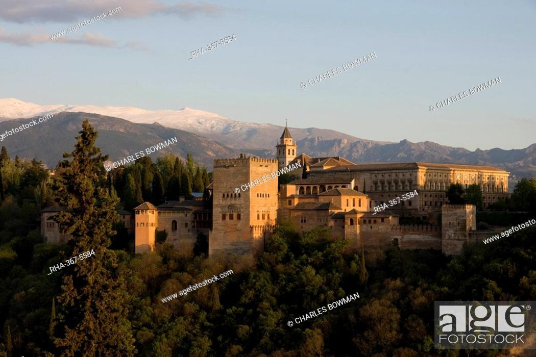Stock Photo: Alhambra, UNESCO World Heritage Site, Granada, Andalucia, Spain, Europe.