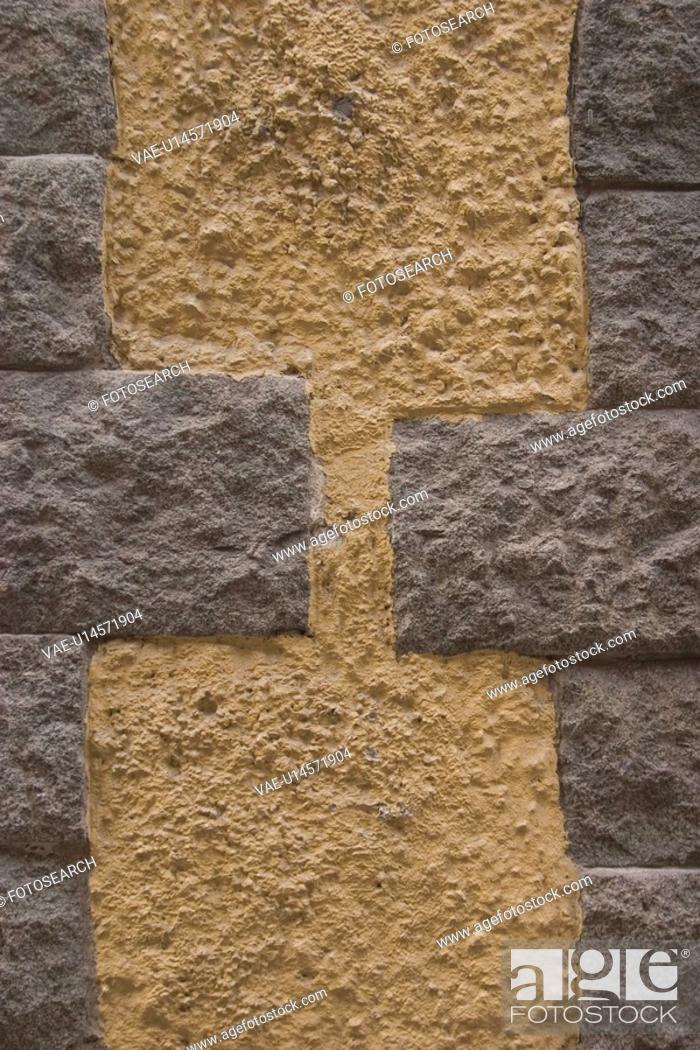 Stock Photo: close-up, outdoor, concrete, cement, wall, structural.