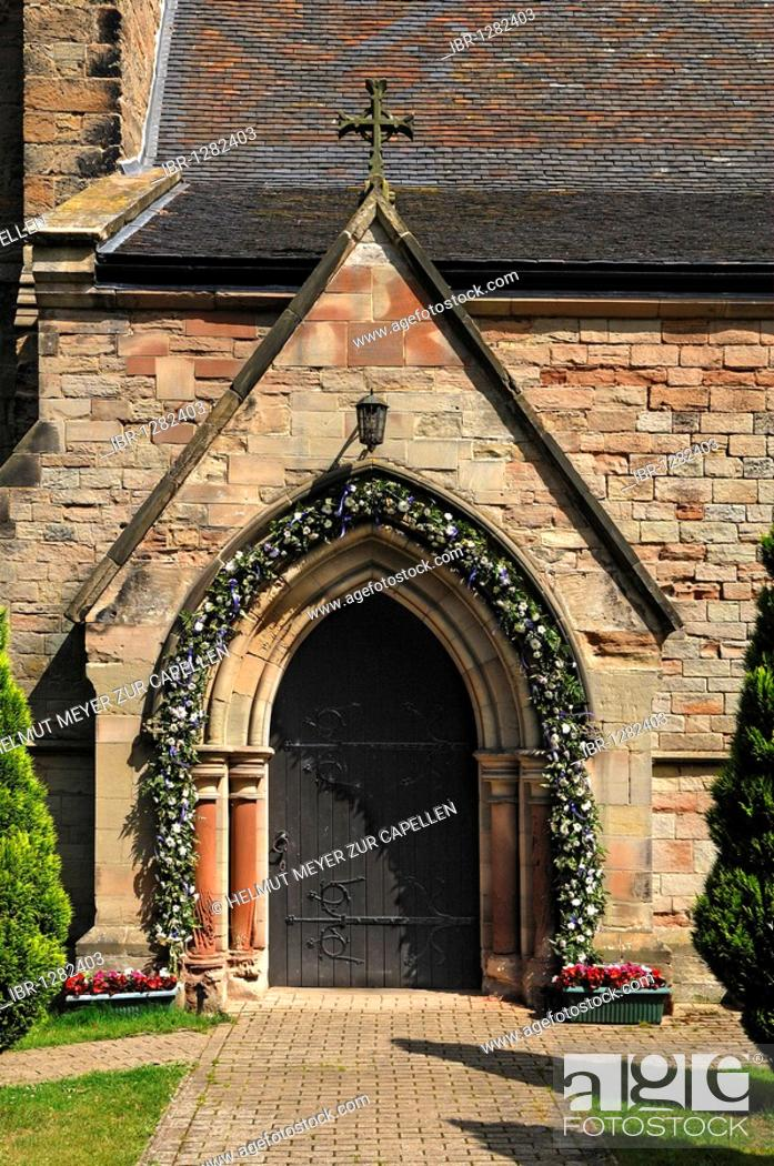 Wedding Decoration At The Entrance Of The Church Of All Saints Dag