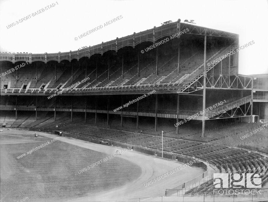 Stock Photo: New York, New York: c. 1923.The new Yankee Stadium in the Bronx in New York City.