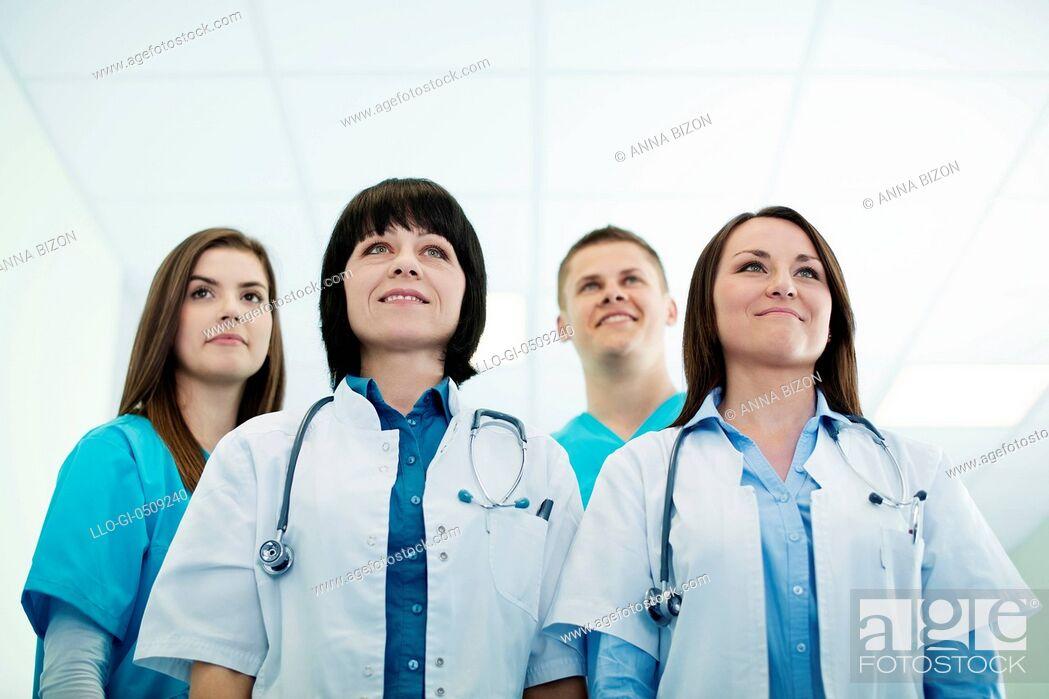 Stock Photo: Successful medical team Debica, Poland.