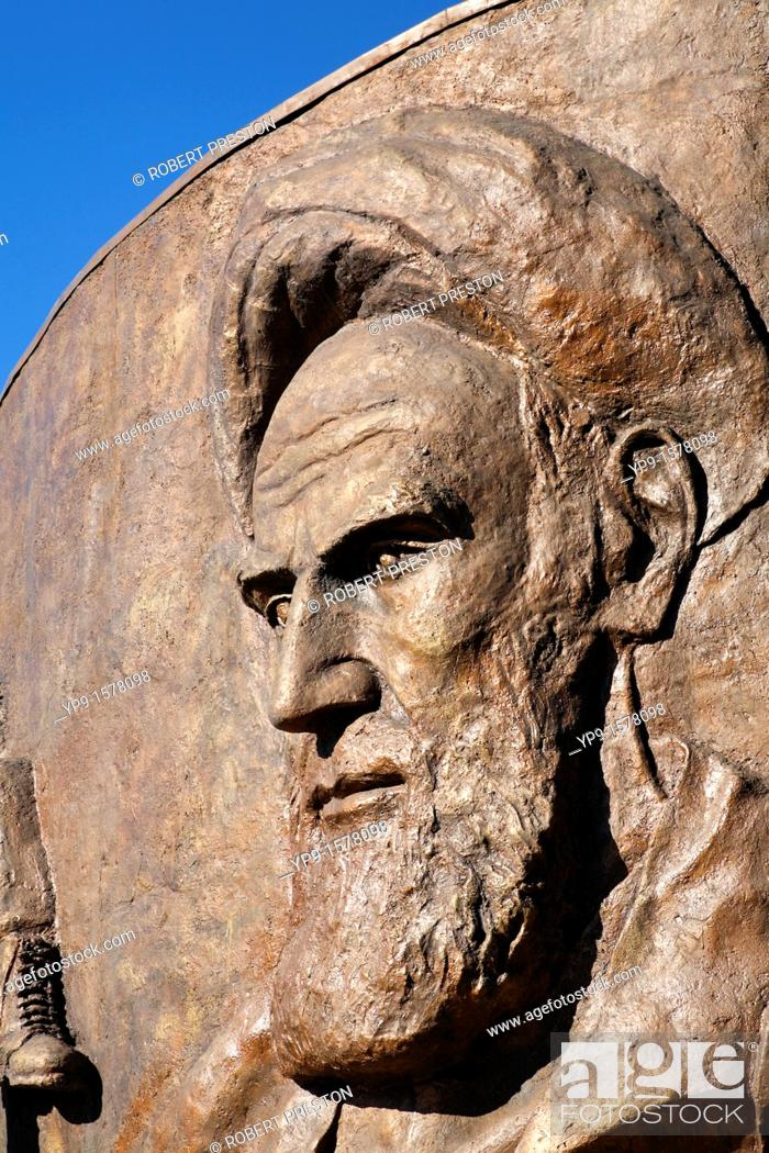 Non Muslim Perspective On The Revolution Of Imam Hussain: Monument To The Iran Iraq War Depicting Ayatollah Khomeini