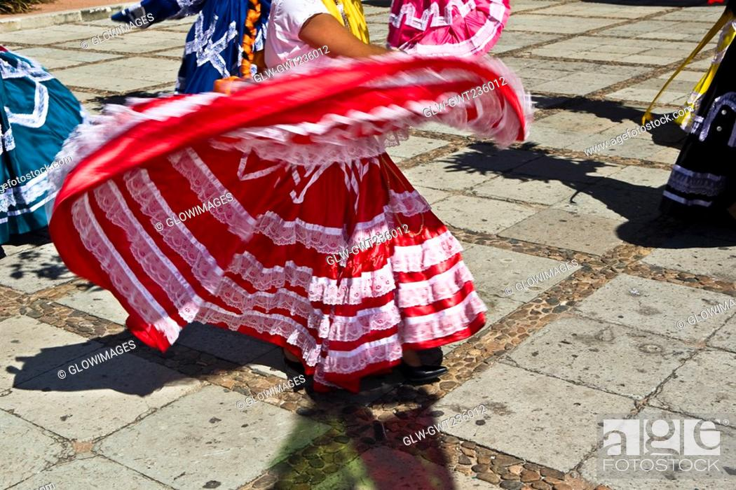 Stock Photo: Dancers performing at a wedding ceremony, Oaxaca, Oaxaca State, Mexico.