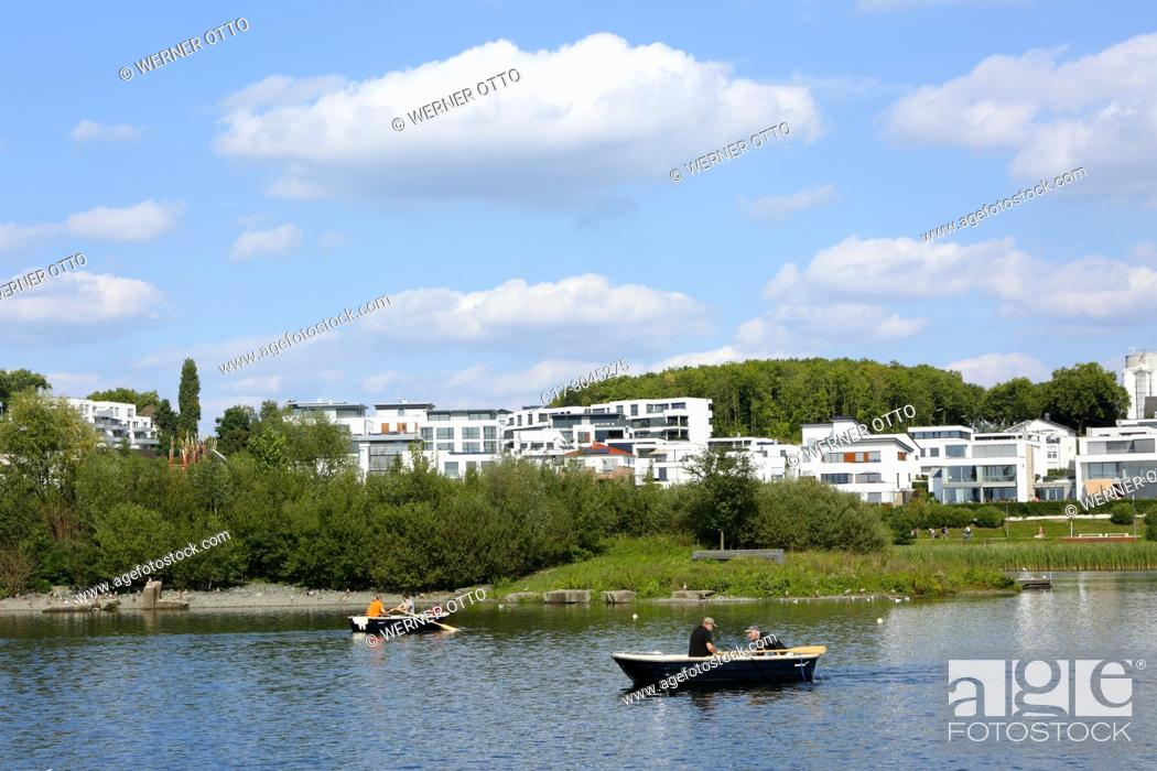 Stock Photo: Dortmund, Hoerde, D-Dortmund, Ruhr area, Westphalia, North Rhine-Westphalia, NRW, D-Dortmund-Hoerde, Phoenix-See, Phoenix Lake, artificial lake.
